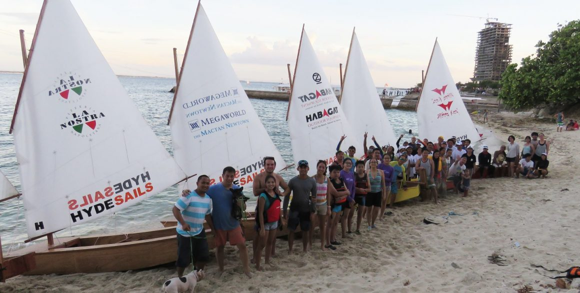 boatbuilding class 2016 Cebu - 9 boats hit the water in two days - Oz Goose sailboat