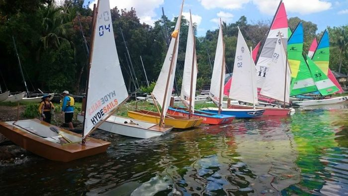 TLYC fleets of Oz Goose and Hobie 16s - race fllet for developing nations