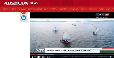 Affordable sailing for everyone - Oz Goose sailboat on prime time TV in the Philippines