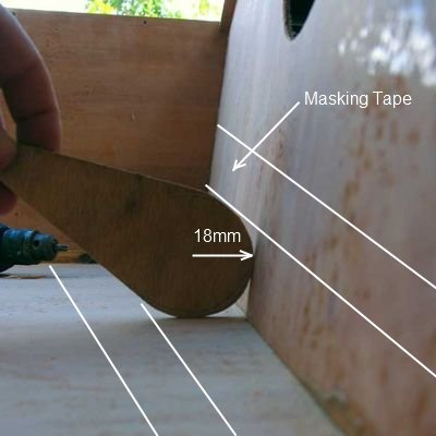 Filleting tool for joining plywood - oz goose sailboat